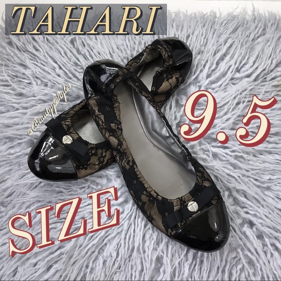 ffa77e1cef2 Tahari Shoes - MAKE AN OFFER Tahari Gibson Lace Ballet Flats 9.5